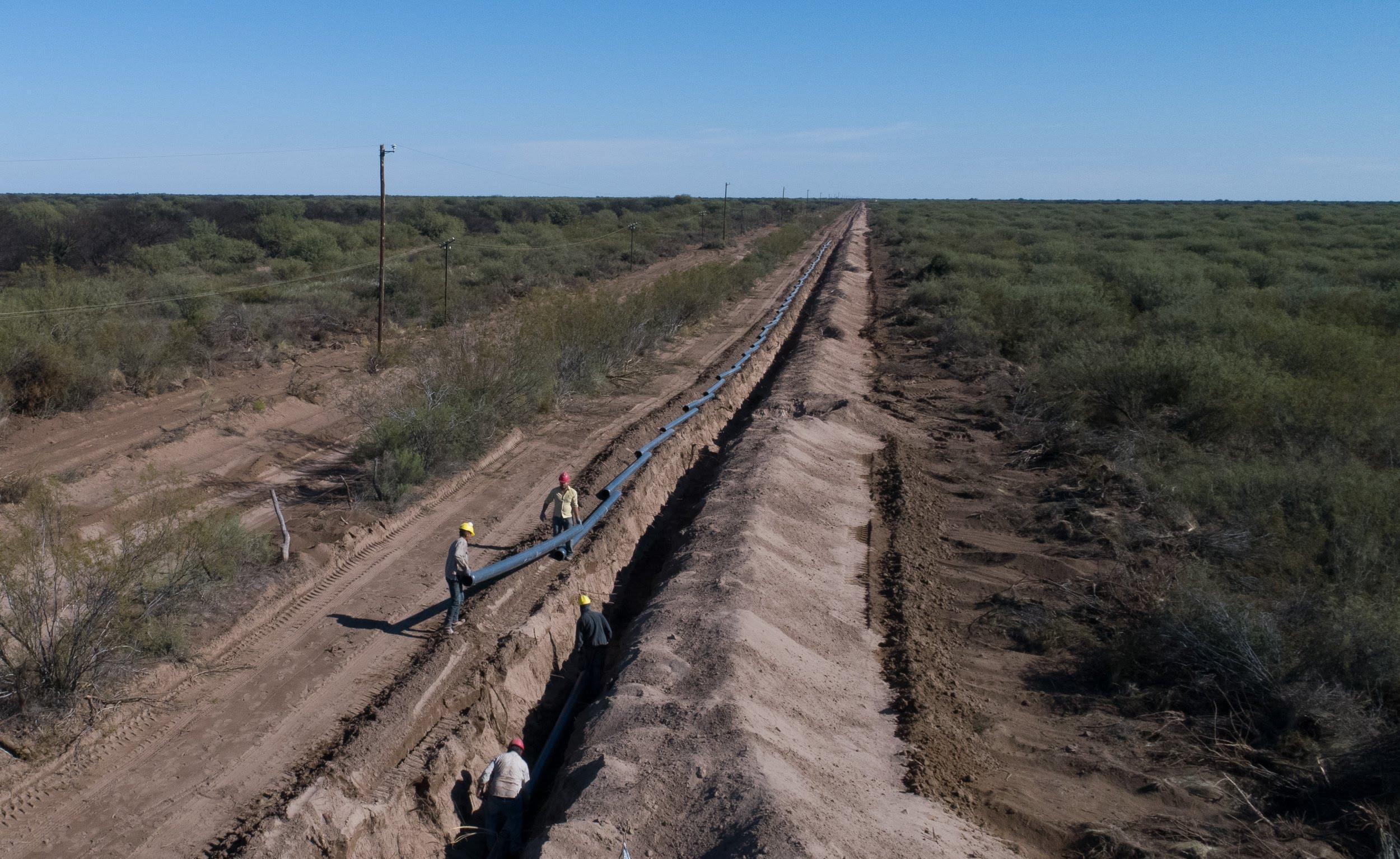 Mendoza avanza para concretar el sistema interconectado de acueductos ganaderos
