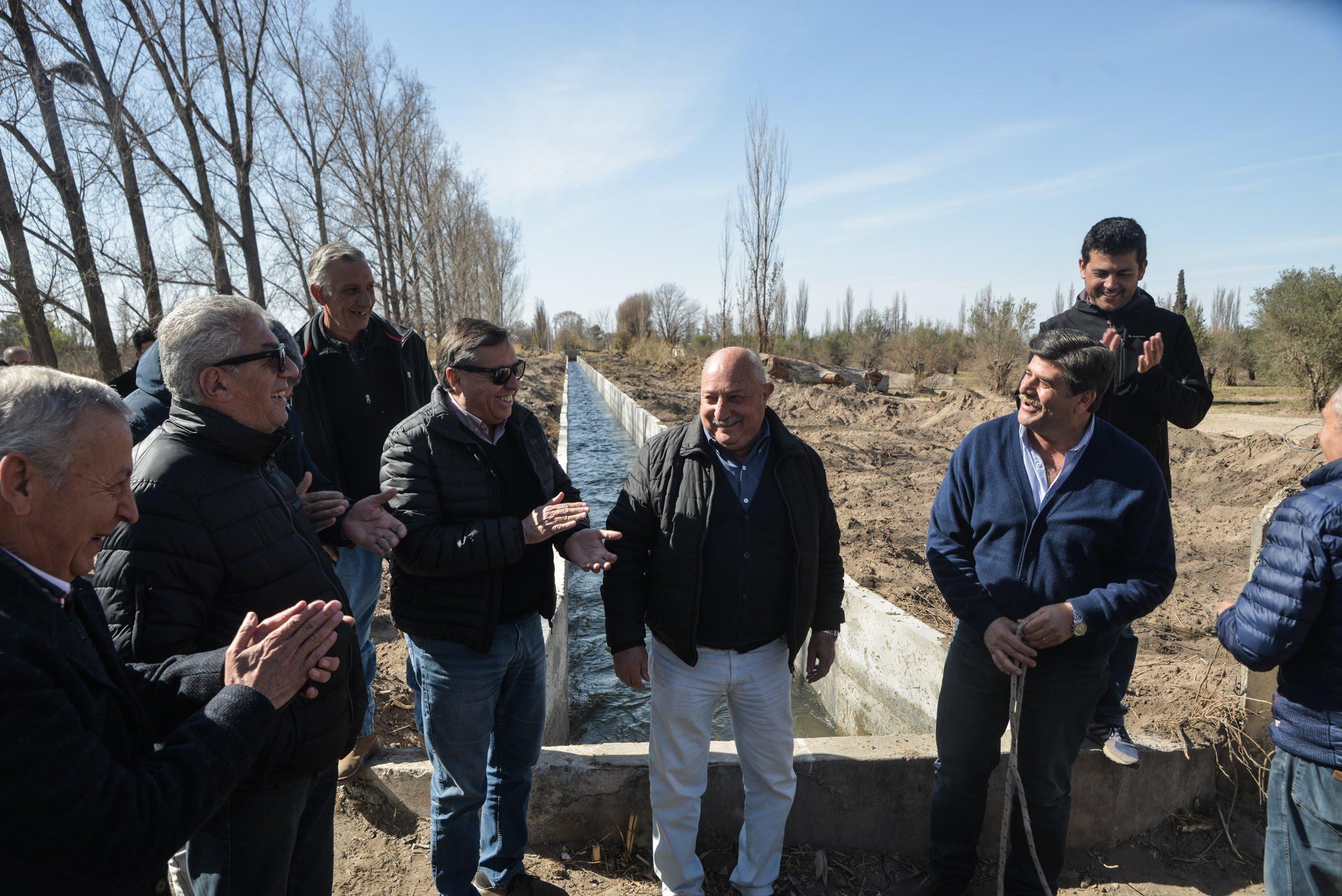Marinelli, Abed, Ronco y Rufeil recorrieron obras de Irrigación