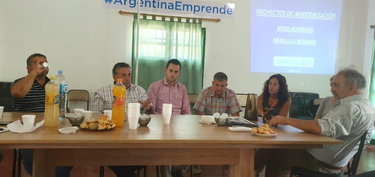 Marinelli se reunió con la Sociedad Rural de Valle de Uco