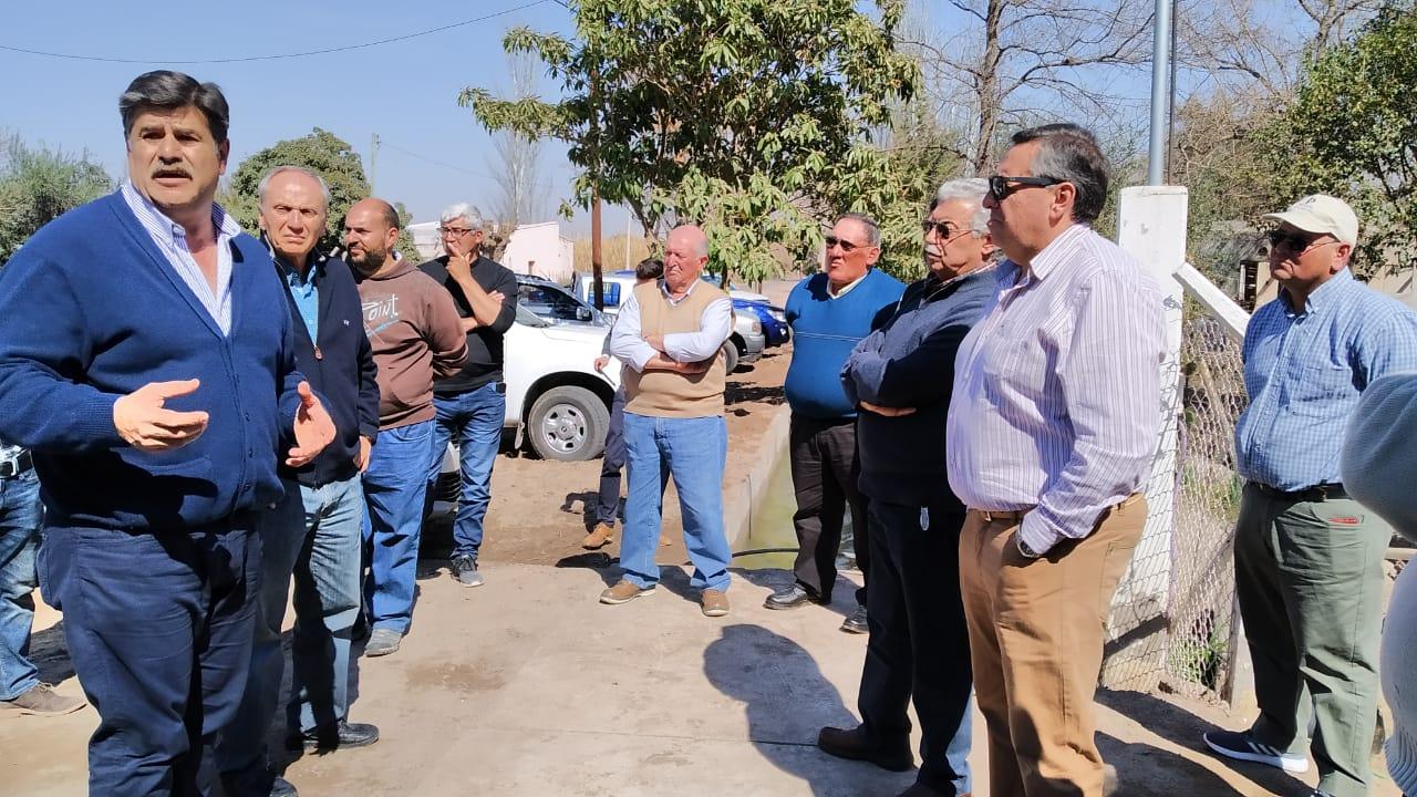 Marinelli visitó obras en la cuenca del Tunuyán Inferior