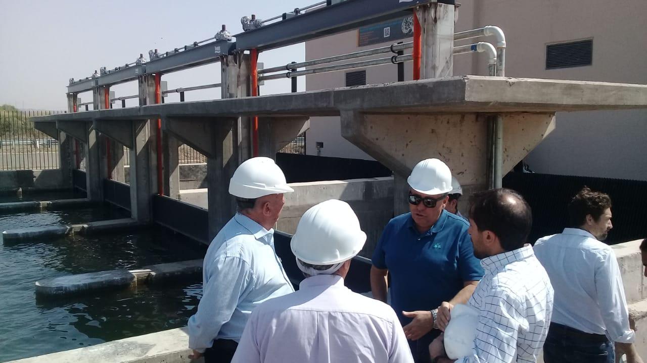 Marinelli recorrió la obra de la minicentral hidroeléctrica Tiburcio Benegas