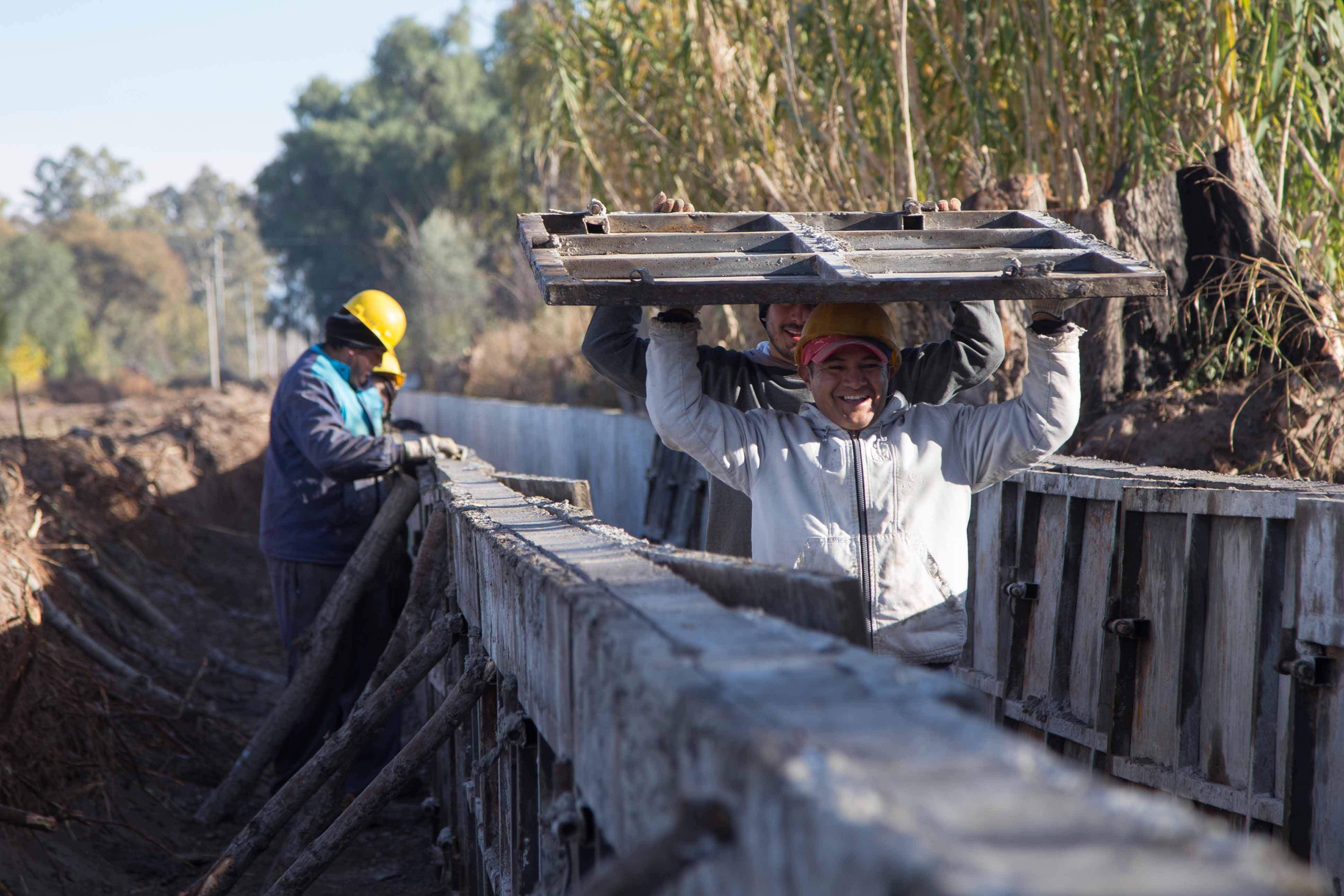 Irrigación pone a punto canales en la cuenca del río Tunuyán Inferior