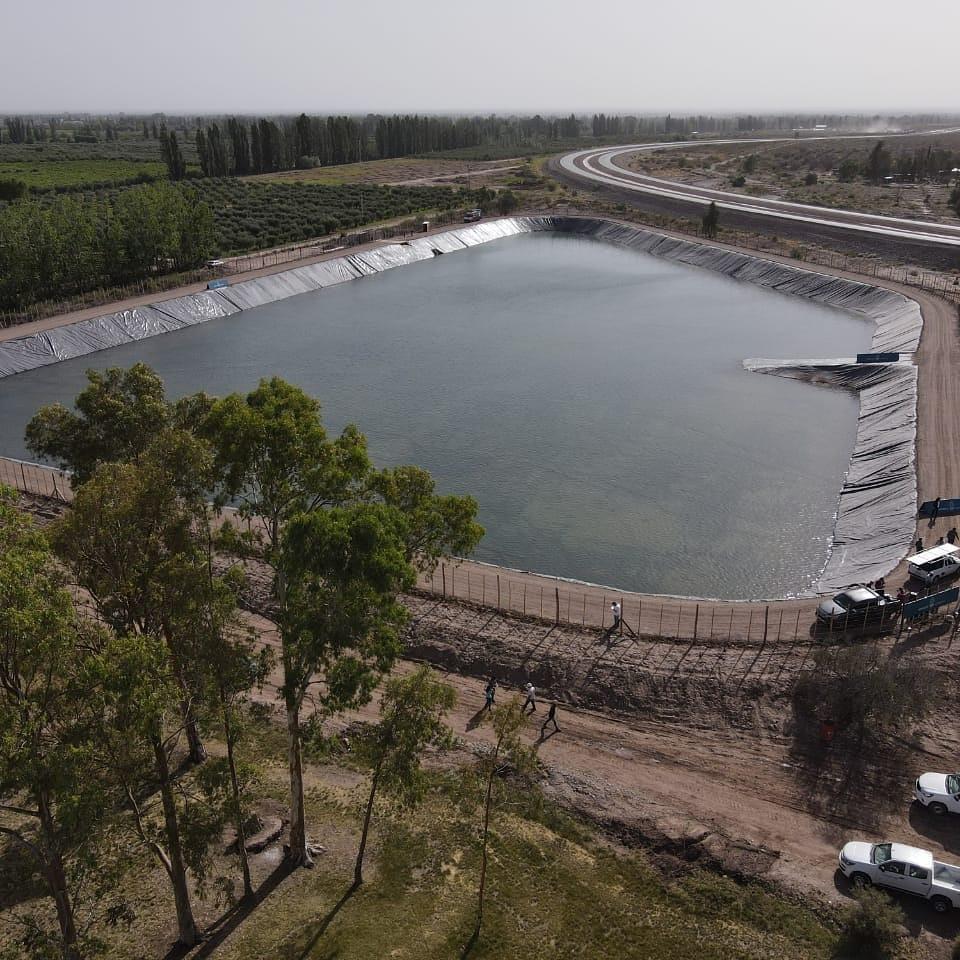 Suarez y Marinelli inauguraron el Reservorio Rufino Ortega, una obra que optimiza el uso del agua