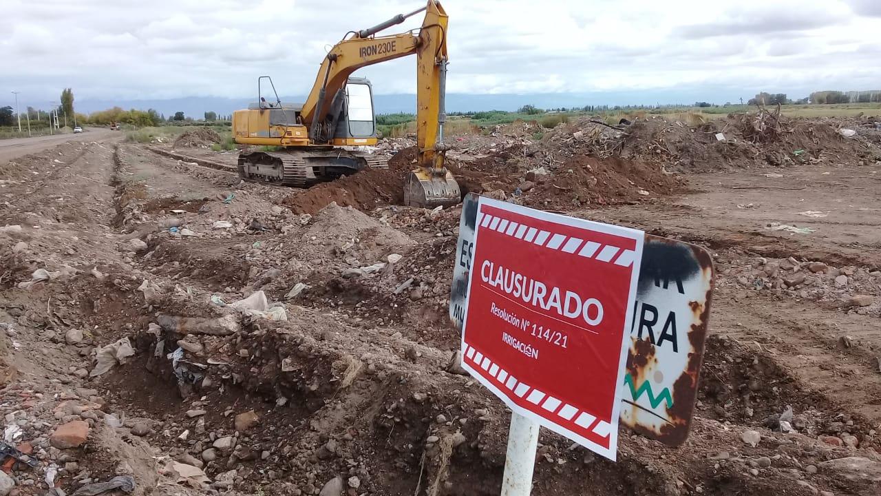 Irrigación clausuró un basural cercano a la Laguna El Viborón