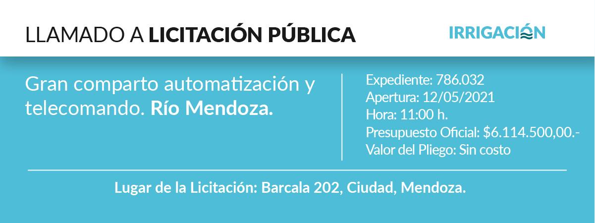 Gran comparto automatización y telecomando. Río Mendoza