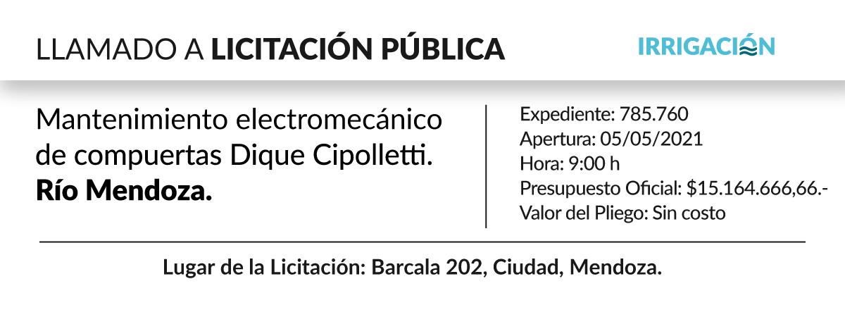 Mantenimiento electromecánico de compuertas dique Cipolletti. Río Mendoza.