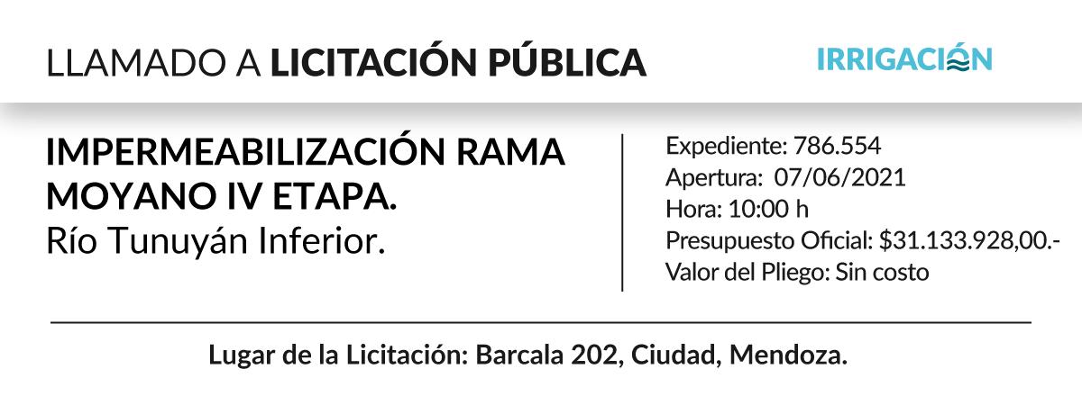Impermeabilización Rama Moyano IV etapa. Río Tunuyán Inferior