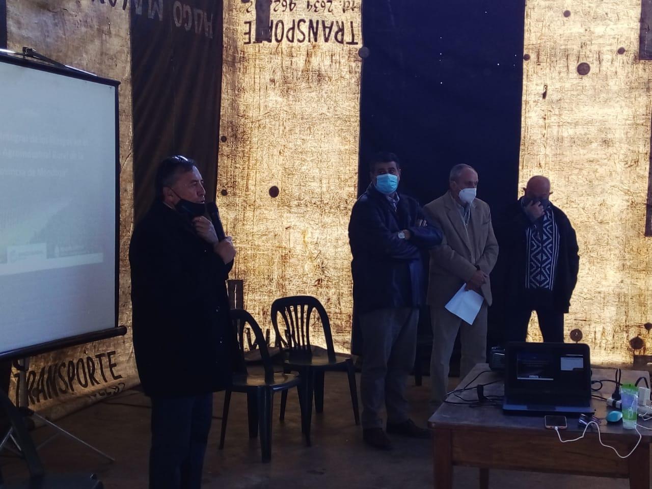 Con Abed, Ronco y Rufeil, Marinelli presentó un importante proyecto con financiamiento internacional