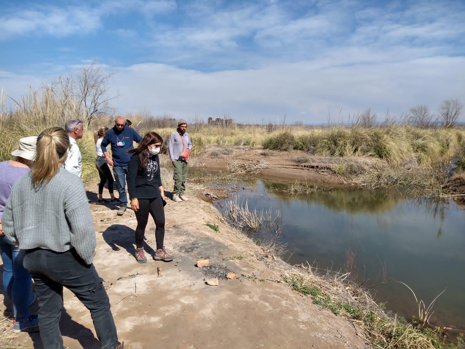 Irrigación visitó el Humedal Arroyo Claro en un monitoreo participativo