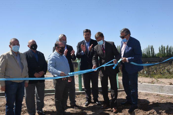 Suarez, Marinelli e intendentes inauguraron una obra de impermeabilización en el Este